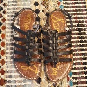 NWOT Sam Edelman Black Garland Sandals